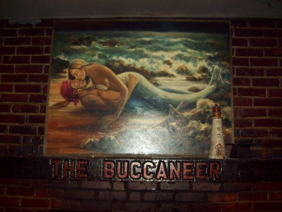 This is a huge painting that hung on the wall right behind us as we performed in Memphis at: The Buccaneer.  What can I say? It was perfect.
